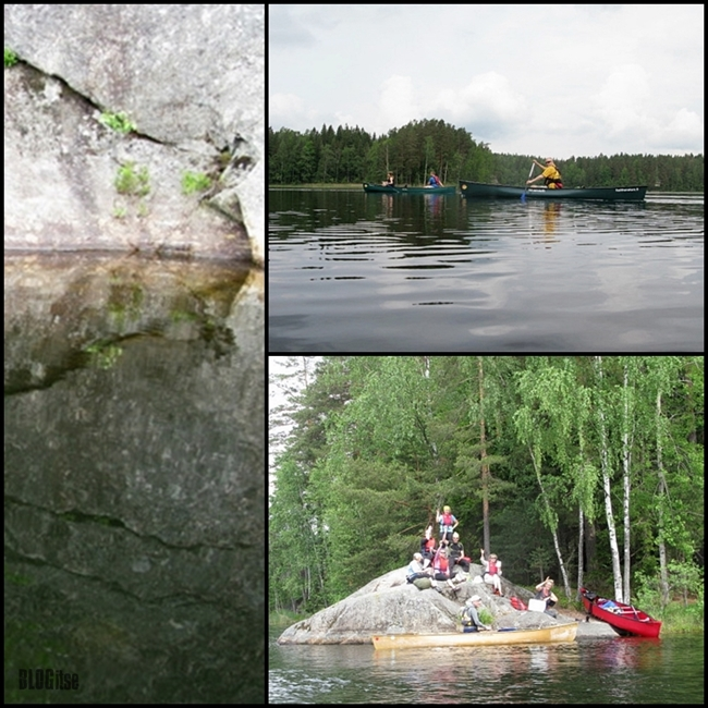canoeists in Nuuksio National Park Finland by BLOGitse