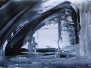 acrylic black and white painting by BLOGitse
