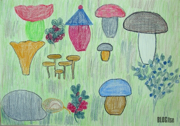 autumn drawing by BLOGitse when she was 7 years old