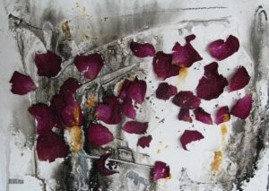 rose petals and inks by BLOGitse