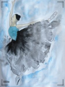 ballet dancer watercolor by BLOGitse