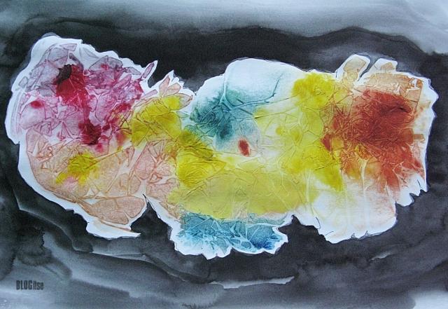 plastic wrap painting by BLOGitse