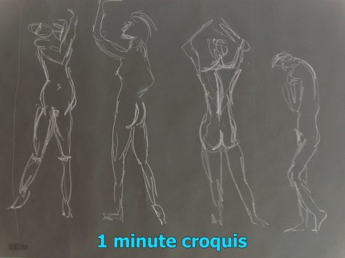 1 minute croquis by BLOGitse