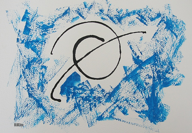 gouache and ink abstract by BLOGitse