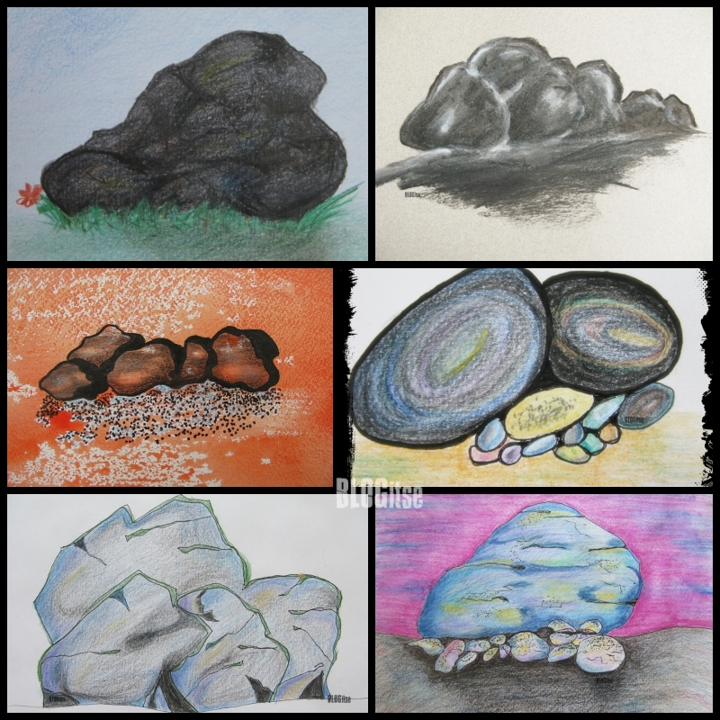 art of stones collage by BLOGitse