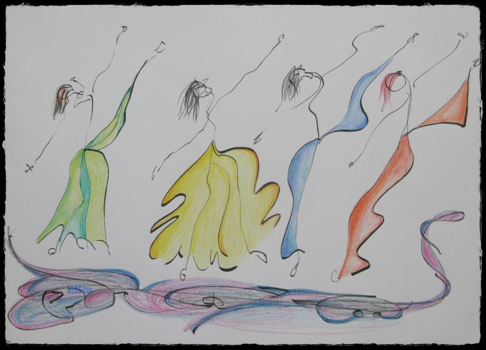 dance dance colored pencil by BLOGitse