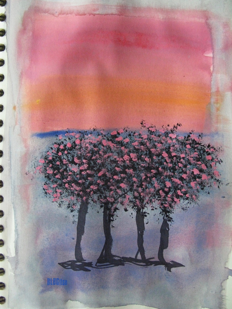 gouache trees by BLOGitse