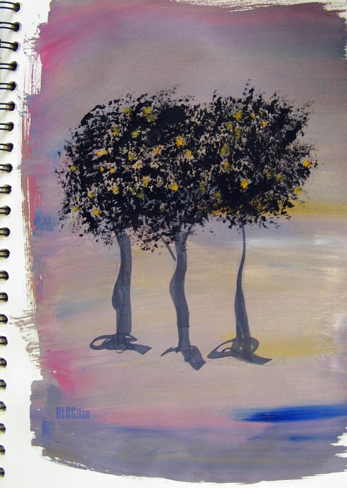 gouache trees by BLOGitse