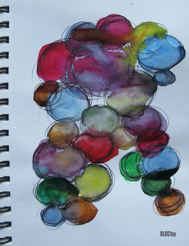 watercolor bubbles by BLOGitse