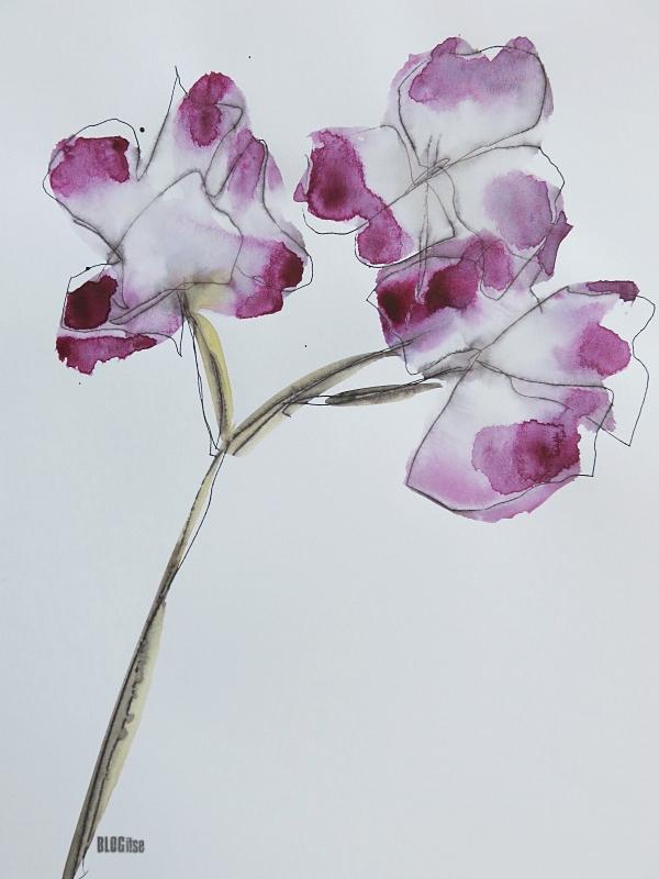 watercolor 1. flower by BLOGitse