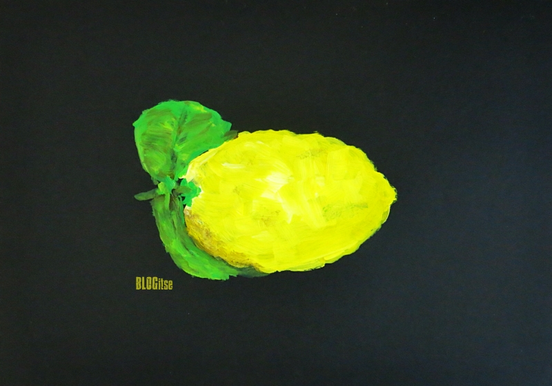 Sorrento Italy lemon acrylic by BLOGitse