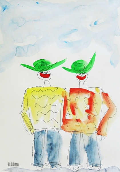sketchtime #32 friends by BLOGitse