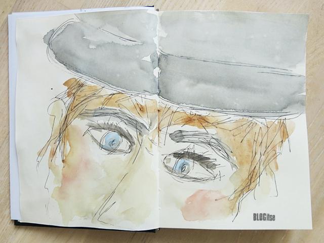 hiding man by BLOGitse