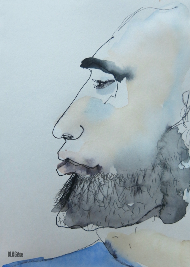 man with blue by BLOGitse
